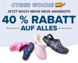 Cyber Week 40% auf Alles bei Crocs (manche Artikel sind ausgeschlossen)