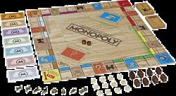 Hasbro Monopoly Holz-Sonderedition Gesellschaftsspiel ab 27,99€ (PVG 48,10€) @Galeria Kaufhof