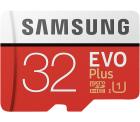 2 Stück SAMSUNG Evo Plus 32GB Micro-SDHC Speicherkarten für 10 € (19,75 € Idealo) @Saturn