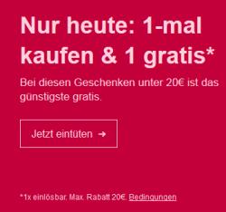 Ebay: Nur heute mit Gutschein 2 Aktionsartikel kaufen und nur 1 bezahlen