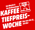 Mediamarkt: Kaffee Tiefpreiswoche wie z.B. Café Royal Crema (1000g) Kaffeebohnen für nur 7,77 Euro statt 11,49 Euro bei Idealo
