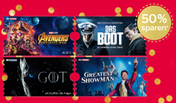 Sky Ticket Weihnachts-Special mit Entertainment und Cinema Ticket bis Ende Januar für 9,99 € statt 19,98 €