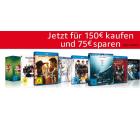 Amazon: Filme und Serien auf  DVD und Blu-ray im Wert von 150 Euro kaufen und 75 Euro Sofortrabatt erhalten