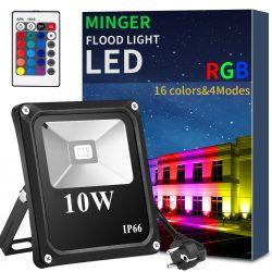 Amazon: Minger LED RGB Außenstrahler mit Fernbedienung mit Gutschein für nur 8,99 Euro statt 24,22 Euro bei Idealo
