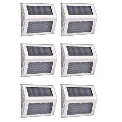 AUSHEN 6 Stck. Aussen 3 Led Solarleuchten für 16,49€ anstatt 32,99€ mit Gutschein