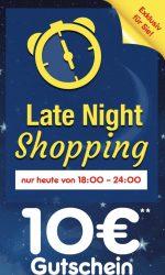 @netto: heute late night shopping und 10€ Gutschein (MBW:69,99€)