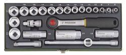 Proxxon 23110 Steckschlüsselsatz 24-teilig für 29,44€ [idealo 36€] @Voelkner mit Gutschein