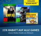 reBuy: 15% Rabatt auf alle Games mit Gutschein ab nur 20 Euro MBW