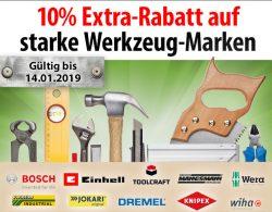 Voelkner: 10% Extrarabatt auf Werkzeugmarken wie Bosch, Toolcraft, Wera, Knipex, Wiha usw. mit Gutschein ohne MBW