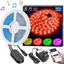 Amazon – Minger 5m LED Streifen mit Musik Synchronisierung durch Gutscheincode für 14,99€ statt 24,99€