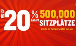 Ryanair: Bis zu 20% Rabatt auf 500 000 Tickets, Flüge schon ab 7,98 Euro