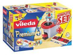 Vileda Premium 5 Komplett-Set Bodenwischer mit Eimer mit Powerschleuder für 39,95€ @Amazon [idealo: 48,84€]