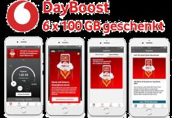 Vodafone DayBoost: – 6 x 100GB Datenvolumen geschenkt für Neu & Bestandskunden