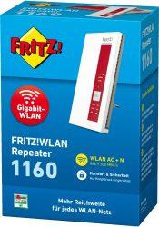 Voelkner: AVM FRITZ!WLAN Repeater 1160 WLAN Repeater mit Gutschein für nur 38,79 Euro statt 45,98 Euro bei Idealo