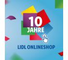 10 Jahre Lidl: Keine Versandkosten mit Gutschein auf alles ab 50 Euro MBW