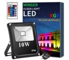 Amazon: Minger LED RGB Außenstrahler mit Fernbedienung mit Gutschein für nur 6,30 Euro statt 17,99 Euro