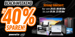 [Bis 28.September] Bis zu 40% Rabatt auf Technik im Black Weekend @Notebooksbilliger