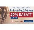 @real: 20% auf alle Räder und e-Bikes mit Gutscheincode