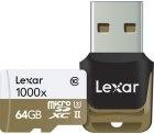 Amazon: Lexar Professional 64GB Class 10 High-Performance 1000x Micro SDXC Speicherkarte mit USB-Kartenleser für nur 36,63 Euro statt 47,59 Euro bei Idealo
