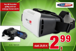 Das verrückte Komma bei Voelkner – Caliber Audio Technology VR001 Virtual Reality Brille für 2,99€ statt 29,95€
