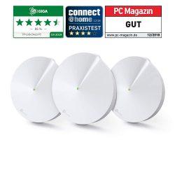 TP-Link Deco P7 Powerline WLAN Mesh Set (1300Mbits + 600Mbits, inkl. Antivirus, Kindersicherung, Reichweite bis zu 570m², 6xGigabit-Ports 3-Pack) für 159€ statt 198,74€ bei Amazon