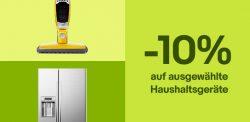 Ebay: 10% Rabatt auf Top-Marken Haushaltsgeräte mit Gutschein ohne MBW