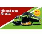 FlixBus (auch FlixTrain) Gutscheinkarte mit 20% Rabatt für 12€ anstatt 15€ @Penny