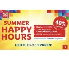 Lidl: Happy hour bis 24:00 Uhr Versandkostenfrei und bis 40% Rabatt (MBW 50€)