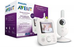 Philips AVENT SCD833/26 Video-Babyphone, 2,7 Zoll Farbdisplay für 129,99€ [idealo: 168,95€] @Amazon