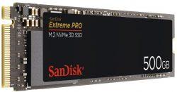 SANDISK Extreme PRO M.2 NVMe 3D SSD 500GB interne SSD für 88 € (103,90 € Idealo) @Saturn