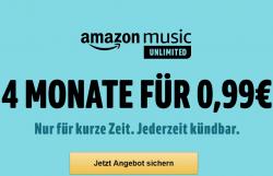 4 Monate Amazon Music Unlimited für nur 0,99 Euro statt 31,96 Euro