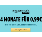 4 Monate Amazon Music Unlimited für nur 0,99 Euro statt 31,96 Euro