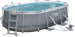 [Abholung im OBI-Markt] Bestway Oval Frame Stahlrahmen Pool Set 424 x 250cm für 299,99€ [idealo 360€}