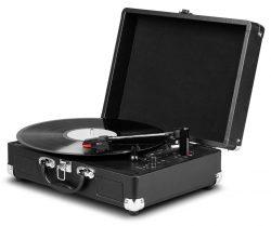 MEDION E64065 retro Koffer-Schallplattenspieler mit USB Digital Encoder für 29,99€ mit Gutschein statt 39,95€ @Amazon
