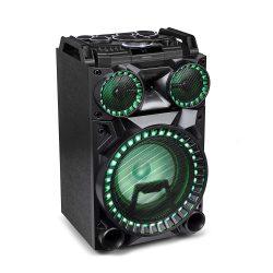 MEDION X64030 Party-Soundsystem (Partylautsprecher Karaoke, Bluetooth 2.1, Kompaktanlage, 1000 Watt, Farbige LED, PLL UKW Radio, USB, AUX, SD-Kartenleser, Mikrofonanschluss, Gitarrenanschluss) für 129,99€ statt 179,99€ @Medion