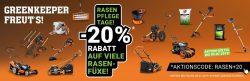20% Rabatt auf alle Rasenmäher und Motorsensen @Fuxtec
