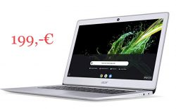 @amazon prime: Acer Chromebook 14 (32GB eMMC) für 199€ statt 299€ bei idealo
