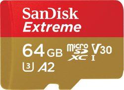 Amazon (Prime): SanDisk Extreme 64GB microSDXC Memory Card + SD Adapter für nur 9,99 Euro statt 17,73 Euro bei Idealo