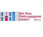 Aufkleber Rettungsgasse bilden kostenlos bestellen @Total