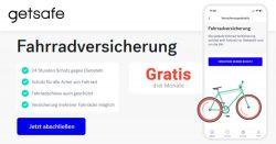 Kostenlose Fahrradversicherung + 5€ App Guthaben ( jederzeit kündbar ) @getsafe