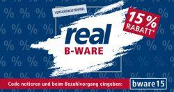 Real: 15% Rabatt auf die gesamte B-Ware mit Gutschein ohne MBW + kostenoser Versand