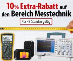 Voelkner: Für nur 2 Tage 10% Extrarabatt mit Gutschein auf die gesamte Messtechnik ohne MBW