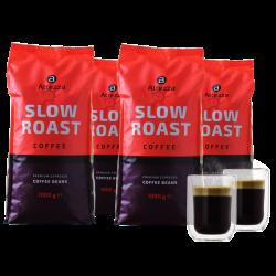 Kaffeevorteil: 4 kg Altezza Slow Roast Kaffeebohnen + 2 doppelwandige Kaffeegläser mit Gutschein für nur 29,99 Euro statt 59,99 Euro