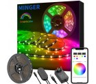 Amazon: MINGER DreamColor 5 Meter RGB LED Streifen mit Musik und APP Steuerung für 22,09 Euro statt 43,49 Euro bei Idealo