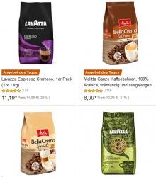 Amazon: Nur heute bis zu 36% Rabatt auf Bohnenkaffee wie z.B. Melitta BellaCrema LaCrema 1kg für 8,99 Euro statt 12,98 Euro bei Idealo
