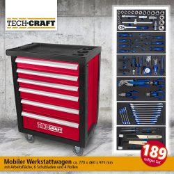 Norma: Tech Craft Werkstattwagen 189-tlg. für nur 256,95 Euro statt 399 Euro bei Idealo