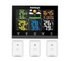 Amazon: Sainlogic WLAN Funk Wetterstation mit 3 Außensensoren, Wettervorhersage und Farbdisplay mit Gutschein für nur 41,99 Euro statt 69,99 Euro