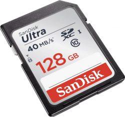 Dealclub: SanDisk Ultra SDXC I 128 GB bis zu 80 MB/Sek, Class 10 Speicherkarte für nur 12,99 Euro statt 28,98 Euro bei Idealo