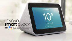 Notebooksbilliger: Lenovo Smart Clock mit Google Assistant inklusive Nedis WLAN Bewegungsmelder für nur 69,99 Euro statt 113,94 Euro bei Idealo