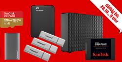 Speicherwoche + täglich neue Speicher-Highlights @Media-Markt z.B. SANDISK SDSSDA-1T00-G26 SSD Plus 1 TB SSD Festplatte für 88 € (103,948 € Idealo)